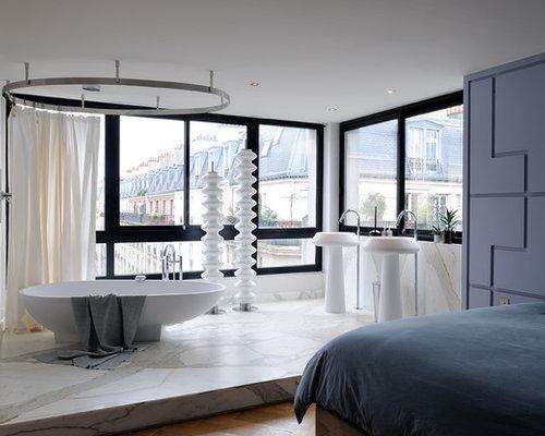 62 181 photos de salles de bain avec un carrelage blanc - Carrelages Brun 70s Salle De Bains
