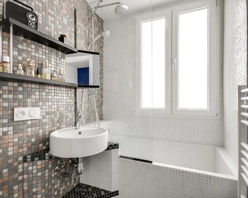Petite salle de bain photos et id es d co de salles de bain for Petite salle de bain contemporaine
