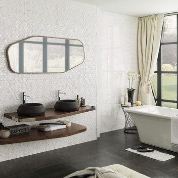 Salle de bain contemporaine - Porcelanosa