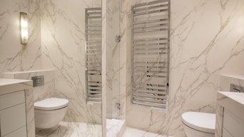 Salle de bain en marbre à Paris