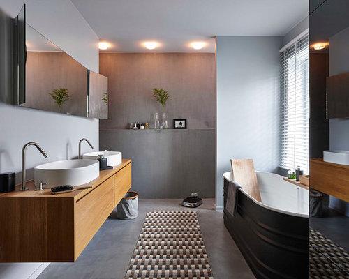 35 salles de bains design. grande surface salle de bain moderne ... - Salle De Bain Contemporain