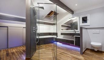 salle de bain moderne et teck