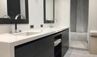 Salle de bain N&B