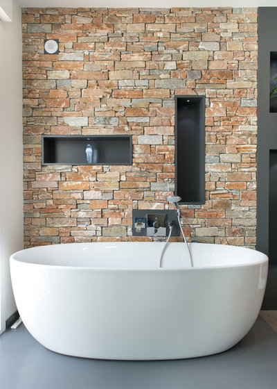Contemporain Salle de Bain by Quadra Tech Habitat
