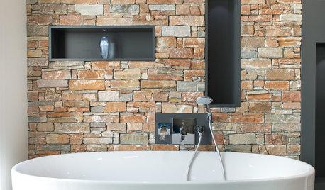 De la pierre naturelle dans la salle de bains, bonne ou mauvaise idée ?