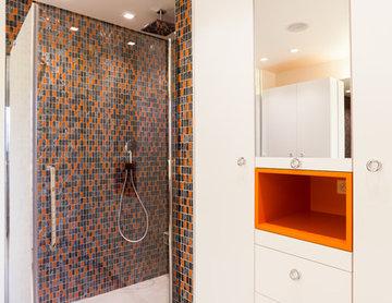 Salle de bain rétro - Création d'une maison