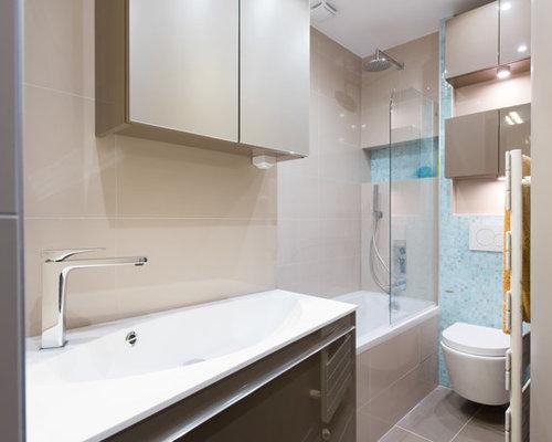 Salle de bain sur mesure dans un petit appartement a paris for Miroir sur mesure paris