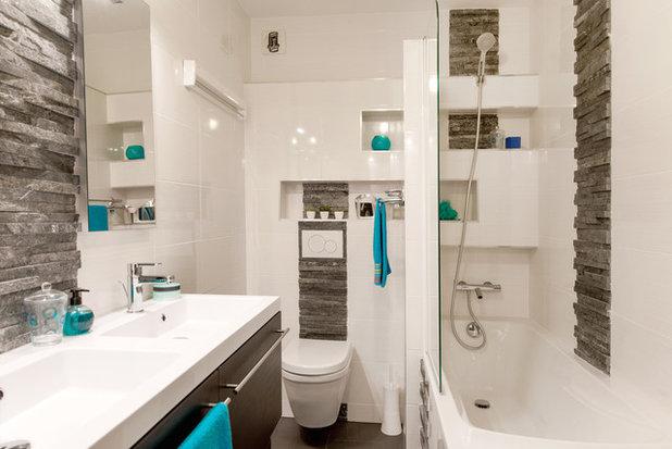 contemporain salle de bain by am by annie mazuy - Salle De Bain Ardoise Entretien