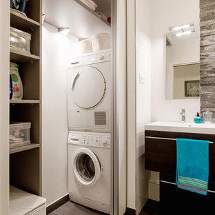 Bagno con lavatrice foto e idee houzz for Stanza da pranzo contemporanea
