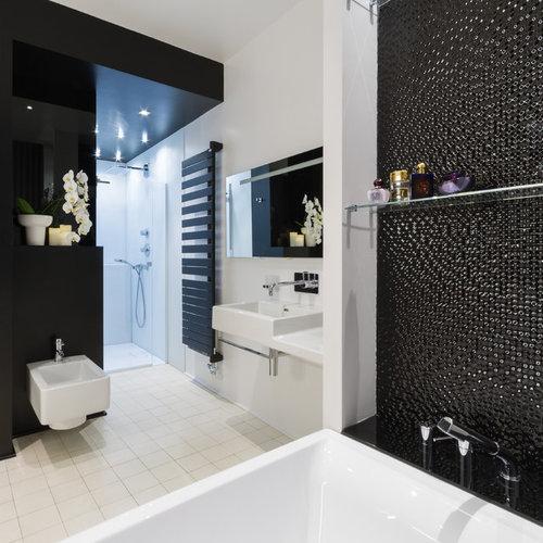 Salle de bain avec un carrelage noir : Photos et idées déco de ...