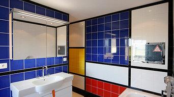 """Salle de bains """"Mondrian"""""""