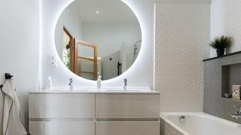Salle de bains tout en lumière