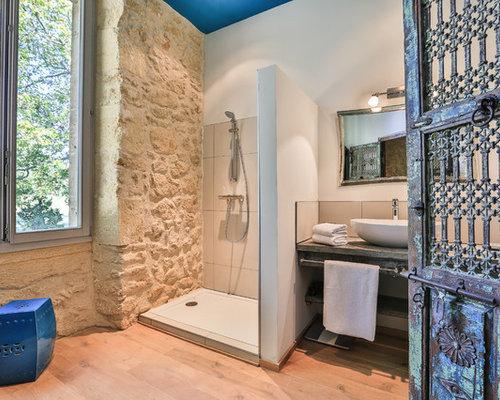 Salle de bain photos et id es d co de salles de bain for Carrelage style campagnard