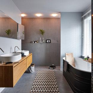 Salle de bain avec b ton au sol photos et id es d co de salles de bain - Houzz salle de bain ...