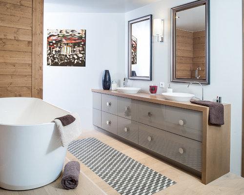 cuisine: t cot design revetement mural bois salle de bain ... - Sol Bois Salle De Bain