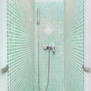 Idée de décoration pour une salle d'eau méditerranéenne.