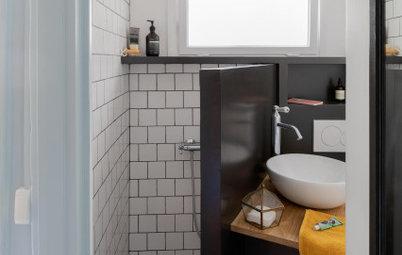 Avant/Après : Ce 14 m2 gagne une micro-salle d'eau incroyable