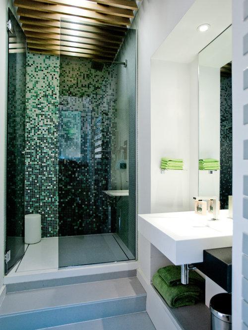 Salle de bain avec carrelage gris clair : Photos et idées déco