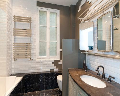 Salle de bain avec une baignoire d\'angle : Photos et idées déco de ...
