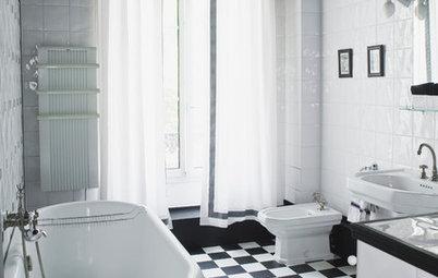 Snabb uppdatering av badrummet? Låt badrumstaket bli... svart!