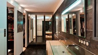 Transformation d'un bureau en salle de bain et dressing