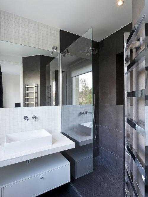Salle de bain avec des carreaux de c ramique photos et id es d co de salles de bain - Houzz salle de bain ...