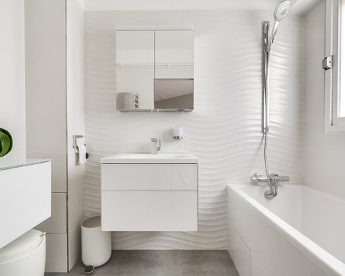 Salle de bain contemporaine photos et id es d co de for Placard suspendu salle de bain