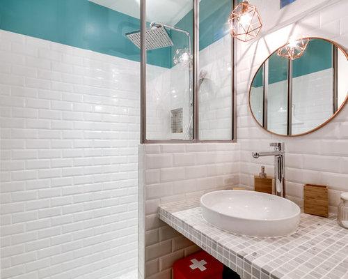 Foto e idee per bagni bagno scandinavo con pavimento con cementine - Bagno con cementine ...