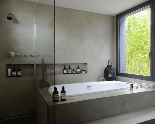 Asiatische badezimmer mit bodengleicher dusche ideen beispiele f r die badgestaltung houzz - Asiatische wohnideen ...