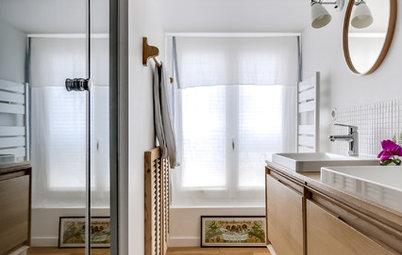 Cómo eliminar la inclinación de un baño abuhardillado
