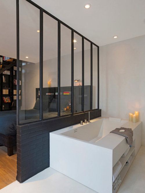 une salle de bains zen et design. Black Bedroom Furniture Sets. Home Design Ideas