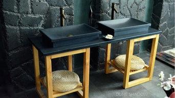 Vasque en pierre - Évier en granit Noir 60x40 : DUNE SHADOW