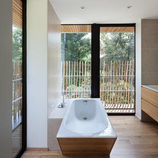 habillage de mur de salle de bain photos et id es d co. Black Bedroom Furniture Sets. Home Design Ideas