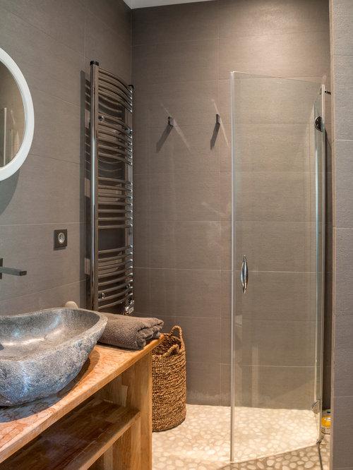 Salle de bain photos et id es d co de salles de bain for Salle de bain galet et bois