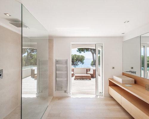 Salle de bain avec un carrelage beige photos et id es d co de salles de bain - Salle de bain mosaique beige ...