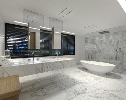 salle de bain avec un carrelage gris photos et id es d co de salles de bain. Black Bedroom Furniture Sets. Home Design Ideas