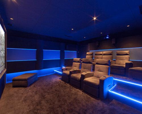 salle de cinema priv e chez un particulier dans son sous sol. Black Bedroom Furniture Sets. Home Design Ideas