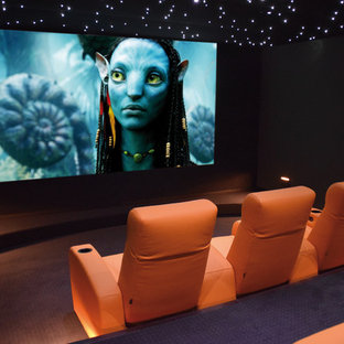 Example of a 1960s home theater design in Montpellier