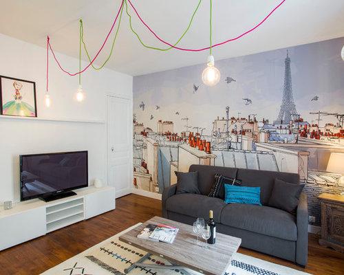 salle de s jour contemporaine photos et id es d co de salles de s jour. Black Bedroom Furniture Sets. Home Design Ideas