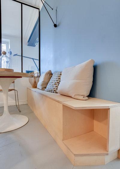 casas houzz un piso en par s con la madera de abedul como protagonista. Black Bedroom Furniture Sets. Home Design Ideas