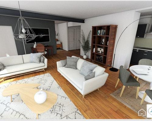 Agencement et relooking 3 D d\'un appartement Haussmanien