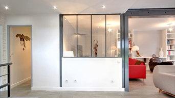 Agrandissement d'un séjour dans un appartement à Courbevoie