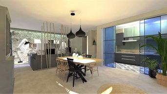 Aménagement, agencement et décoration d'un séjour/ cuisine