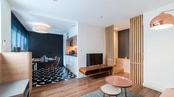 Aménagement d'un ancien plateau de bureau en appartements type Airbnb