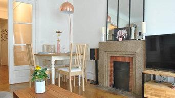 Aménagement d'un appartement en intégrant les éléments meubles et déco existants