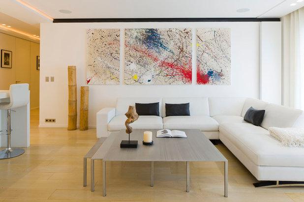 arte alla parete: un solo quadro per rivoluzionare un intero salotto - Quadri Per Soggiorno Contemporaneo 2