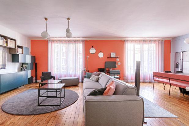 コンテンポラリー ファミリールーム by Elivan Interior Design