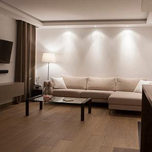 Aménagement d'une salle de séjour moderne.
