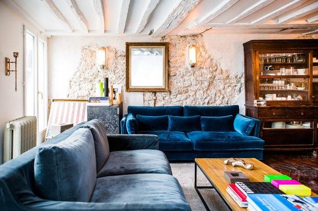 Contemporain salle de séjour by hélène