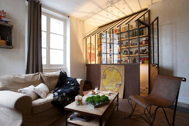 Éclectique Salle de Séjour Appartement Nantes - Place du Bouffay